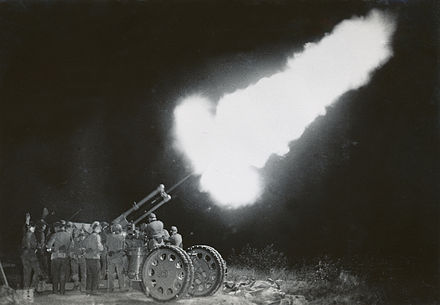 Shooting with anti-aircraft gun in Sweden 1934 Antiaircraft defence Sweden 1934.jpg