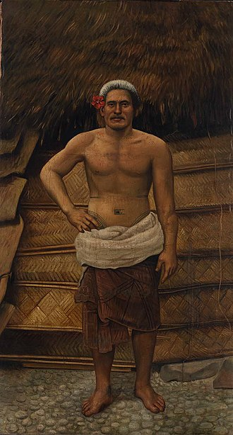 Samoans - Portrait of a Samoan man by Antonion Zeno Shindler