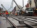 Anzin & Valenciennes - Travaux de raccordement des lignes A & B du tramway de Valenciennes à la Croix d'Anzin le 9 août 2013 (37).JPG