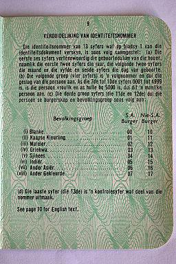 Apartheid population groups (Afrikaans version)