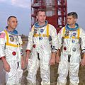 Grissom, White, and Chaffee of Apollo 1