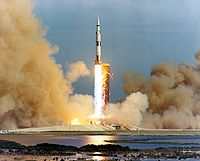 Apollo 15 launch medium distance