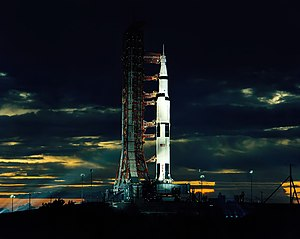 Saturn V - The final manned Saturn V, AS-512, before the launch of Apollo 17 in December 1972