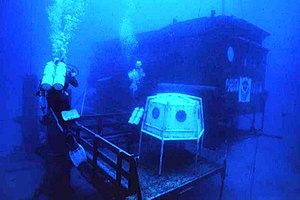 Aquarius underwater laboratory on Conch Reef, ...