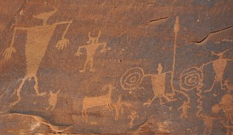 Dinosaur Diamond Scenic Byway - Potash Road Petroglyphs, on Utah State Route 279 near Moab