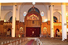 Archangel Michael's Coptic Orthodox Cathedral, built in the Coptic style 2006-10-EGYPT-ASWAN
