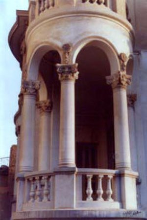 Minya, Egypt - A Rococo facade of a palace in Colonial Minya