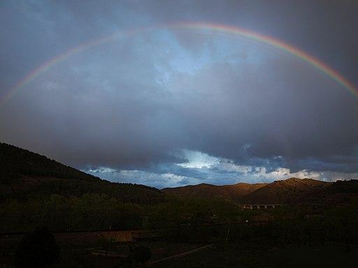 Arcoiris sobre los montes de Bubierca