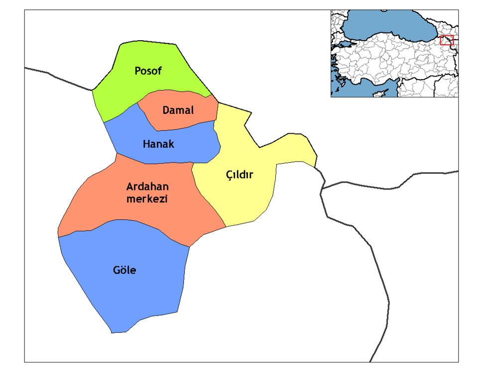 Ardahan districts