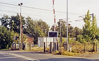Ardleigh railway station - Location of the station (1991)
