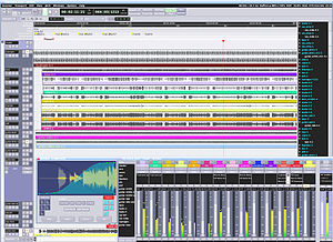 Digital audio workstation - A screenshot of a typical software DAW (Ardour)