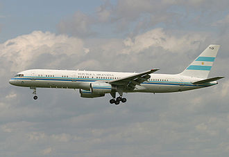 Air transports of heads of state and government - Tango 01 of Argentine Republic.