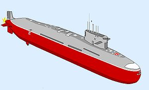 India and weapons of mass destruction - Conceptual drawing of the INS Arihant SSBN.