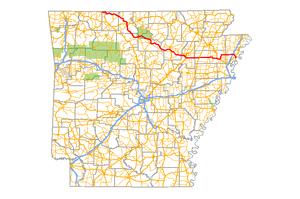 Arkansas Highway 14 - Image: Arkansas 14