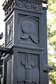 Arlington National Cemetery - symbols on Schley Gate - 2011.jpg