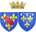 Arms of Bathilde d'Orléans (known as the Duchess of Bourbon) as Princess of Condé.png