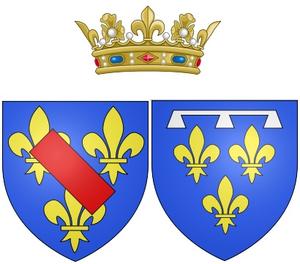 Bathilde d'Orléans - Arms of Bathilde as Duchess of Bourbon, Princess of Condé