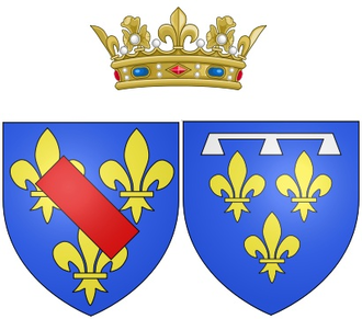 Bathilde d'Orléans - Arms of Bathilde as Duchess of Bourbon, Princess of Condé