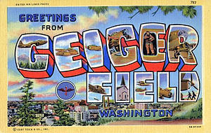 Spokane International Airport - World War II Geiger Field Postcard