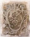 Arnoldstein Pfarrkirche hl Lambert Aussenwand Wappenrelief eines Abtes 05102016 4732.jpg