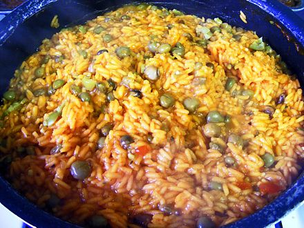 Arroz con gandules, one of the national dishes of Puerto Rico Arroz con gandules.jpg