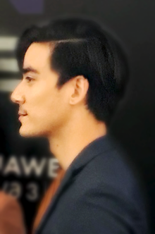 Arthur Apichaht Gagnaux The Face Men Thailand season 2's press conference on 24 September 2018.png