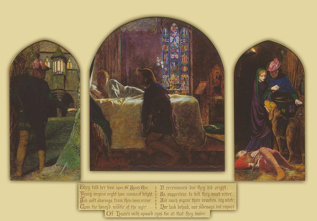 """""""The Eve of St Agnes"""" by Arthur Hughes"""