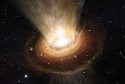 Artist's impression of the surroundings of the supermassive black hole in NGC 3783.jpg