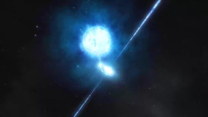 File:Artist's impression of the black hole inside NGC 300 X-1 (ESO 1004c).webm