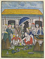 Asaf al-Daula (Nawab of Oudh) at a cock-fight with Europeans..jpg