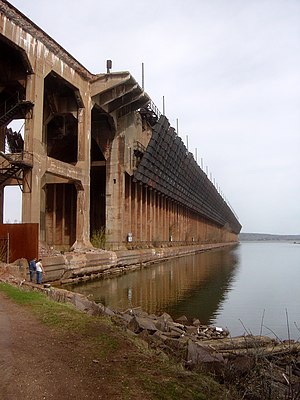 Ashland, Wisconsin - The massive Soo Line ore dock in 2007, before its demolition.