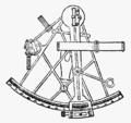 Astronomiska instrument, Sextant, Nordisk familjebok.png