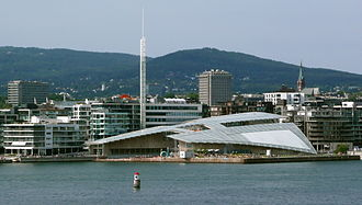 Astrup Fearnley Museum of Modern Art - The new museum building as seen from the Oslo Fjord