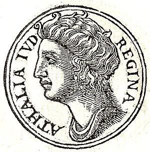 Athaliah - Athaliah from Guillaume Rouillé's Promptuarii Iconum Insigniorum, 1553