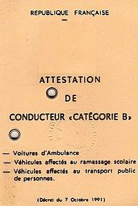permis de voiture