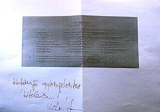 Attila Kotányi - Attila Kotányi's obituary notice.