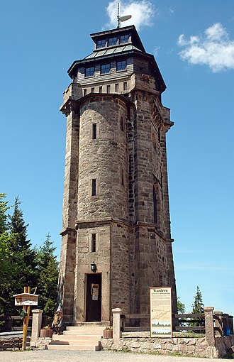 Observation tower - Observation tower in Auersberg, Saxony, Germany.