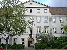 Augsburg-Holbein.Gymnasium-Altbau.Eingang