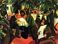 August Macke, Gartenrestaurant 1912.jpg