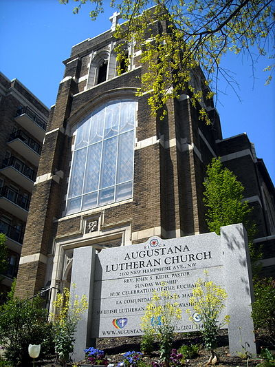 Augustana Lutheran Church in Washington, D.C belonging to the Evangelical Lutheran Church in America Augustana Lutheran Church - sign.JPG