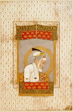 Aurangzeb in his old age. ca. 1700, British Library, London..jpg