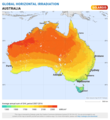 Australia Global Horizontal Irradiance map.png