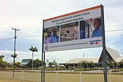 Australian aid billboard in Honiara, Solomon Islands, 2012. Photo- Yvonne Green - DFAT (12783782273).jpg