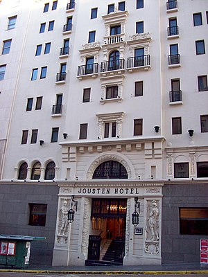 "1943 Argentine coup d'état - Hotel Jousten, on Corrientes Avenue in Buenos Aires. The group of conspirators known as the ""Jousten Generals"" gathered here."