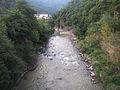 Avisio river from the bridge of Cantilaga - upstream.JPG