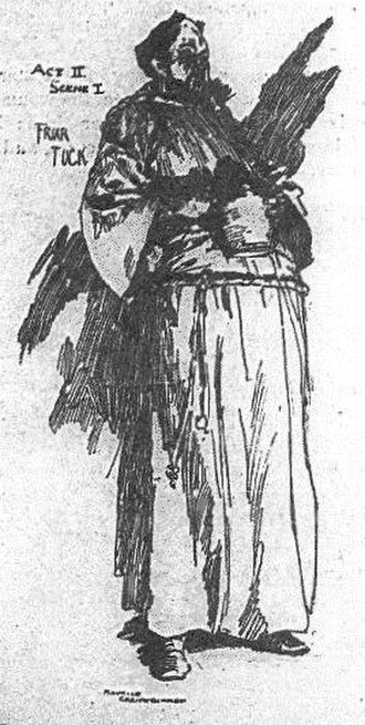 Avon Saxon - Saxon as Friar Tuck in Ivanhoe (1891), taken from the souvenir programme for the 100th performance