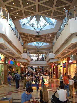 Azrieli Center - Interior view of Azrieli Center shopping mall.