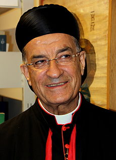 Bechara Boutros al-Rahi Maronite Patriarch of Antioch