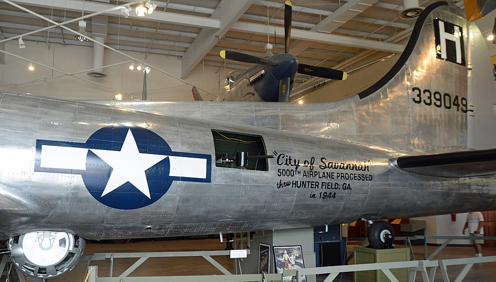 B-17 tail at Mighty 8th Air Force Museum, Pooler, GA, US