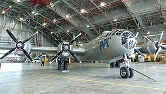 FIFI (aircraft) - In the 2011 air show season, FIFI spent a few days in the NASA Langley hangar, avoiding storms.